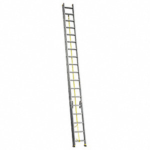 Extension Ladder, Aluminum, I ANSI Type, 36 ft. Industry Ladder Size