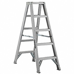 5 ft. 300 lb. Load Capacity Aluminum Twin Stepladder
