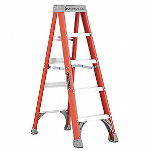 5 ft. 300 lb. Load Capacity Fiberglass Stepladder