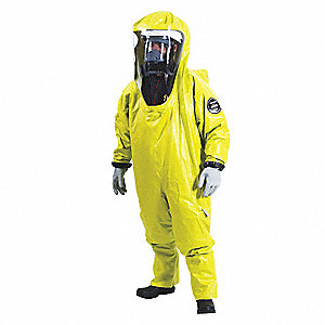 Encapsulated Suit,Level B,Yellow,L