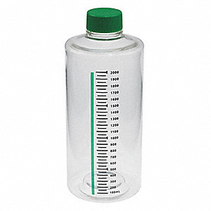 2,000mL Roller Bottle, Wide Mouth, Polystyrene, PK 12