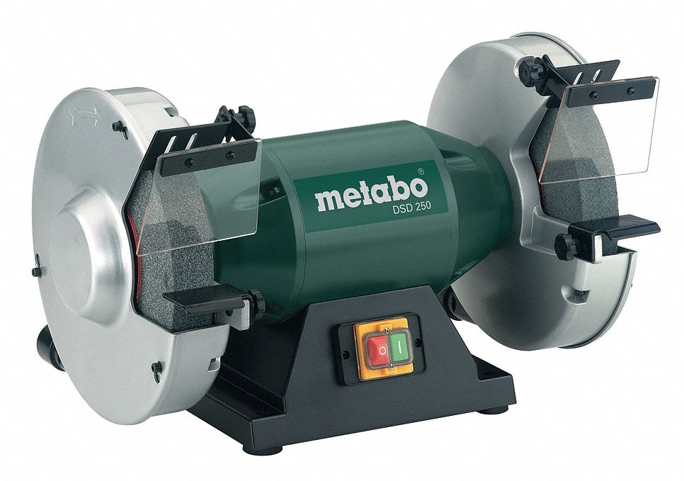 Metabo 10 Quot Bench Grinder 120v 1 Hp 1780 Max Rpm 1 1 4