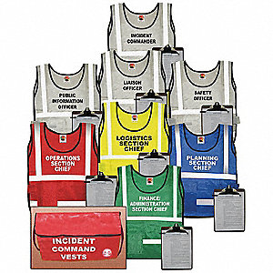 Incident Command Kit,8 Vests