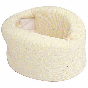 Cervical Collar,Soft Foam,Off White,M