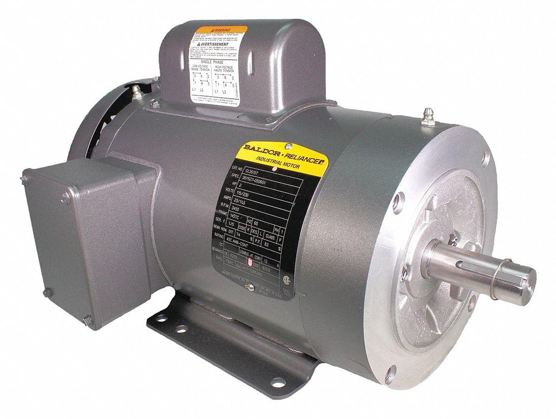 Baldor Electric Motor 2 Hp 3450 Rpm 115 230v 145tc Tefc