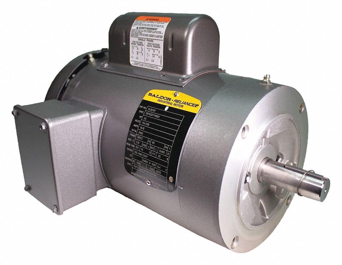 Baldor Electric Motor 1 1 2 Hp 3450 Rpm 115 230v 143tc