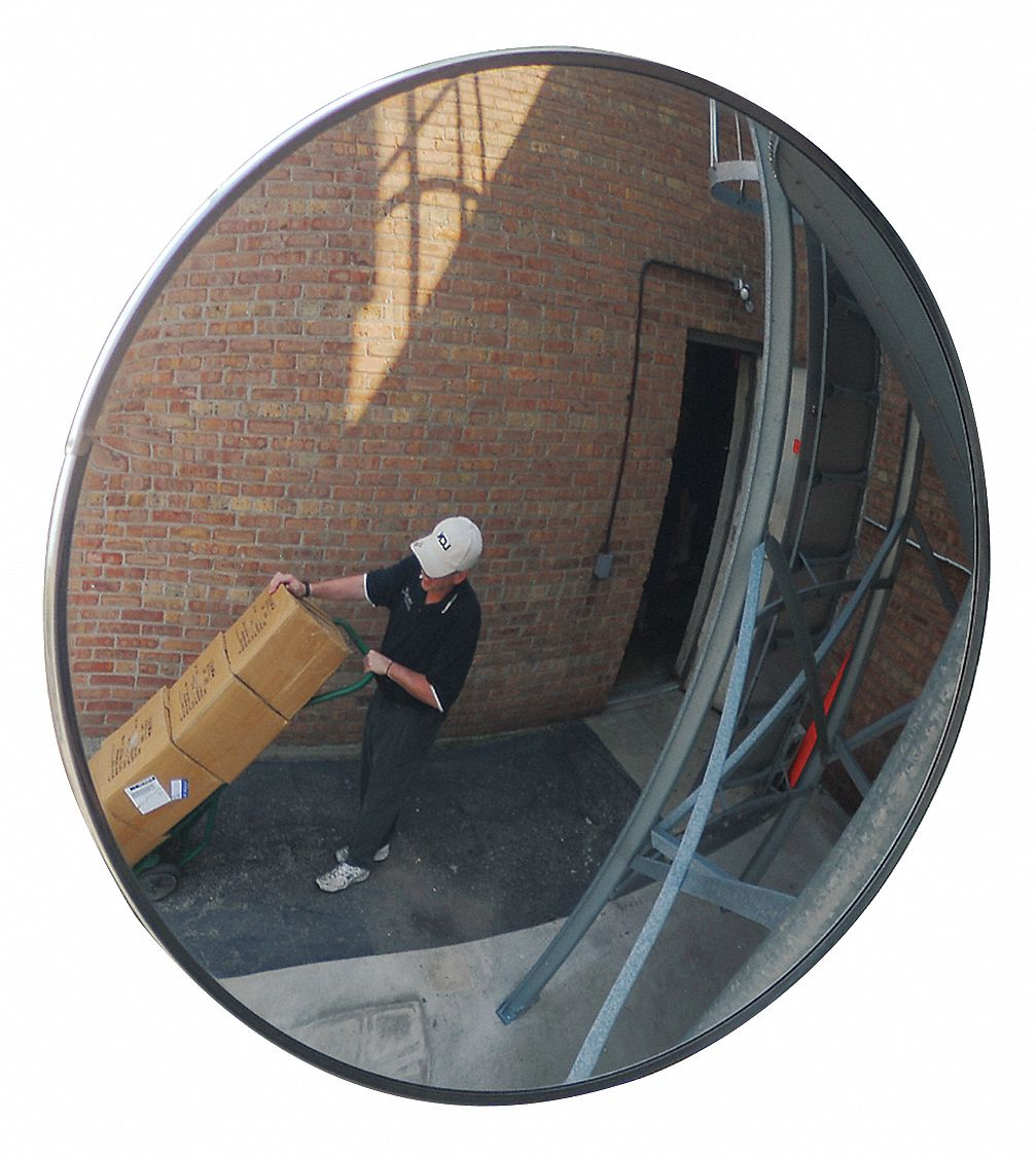 Grainger Approved Outdoor Convex Mirror Circular 36in Dia
