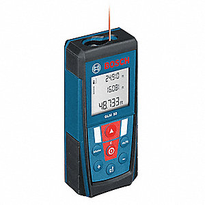 "Indoor Laser Distance Meter, ±1/16"" Accuracy, 2"" to 165 ft. Range"