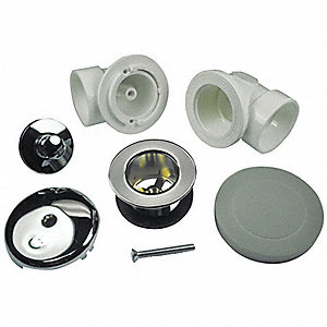 Waste and One Hole Overflow Half Kit,PVC