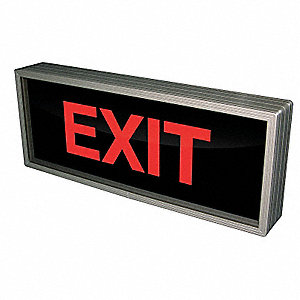 Exit LED Parking Sign, Red LED Color, Power Requirements: 120V