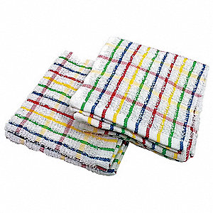 Dish Cloth,12x12In,RaInbow Pattern,PK12