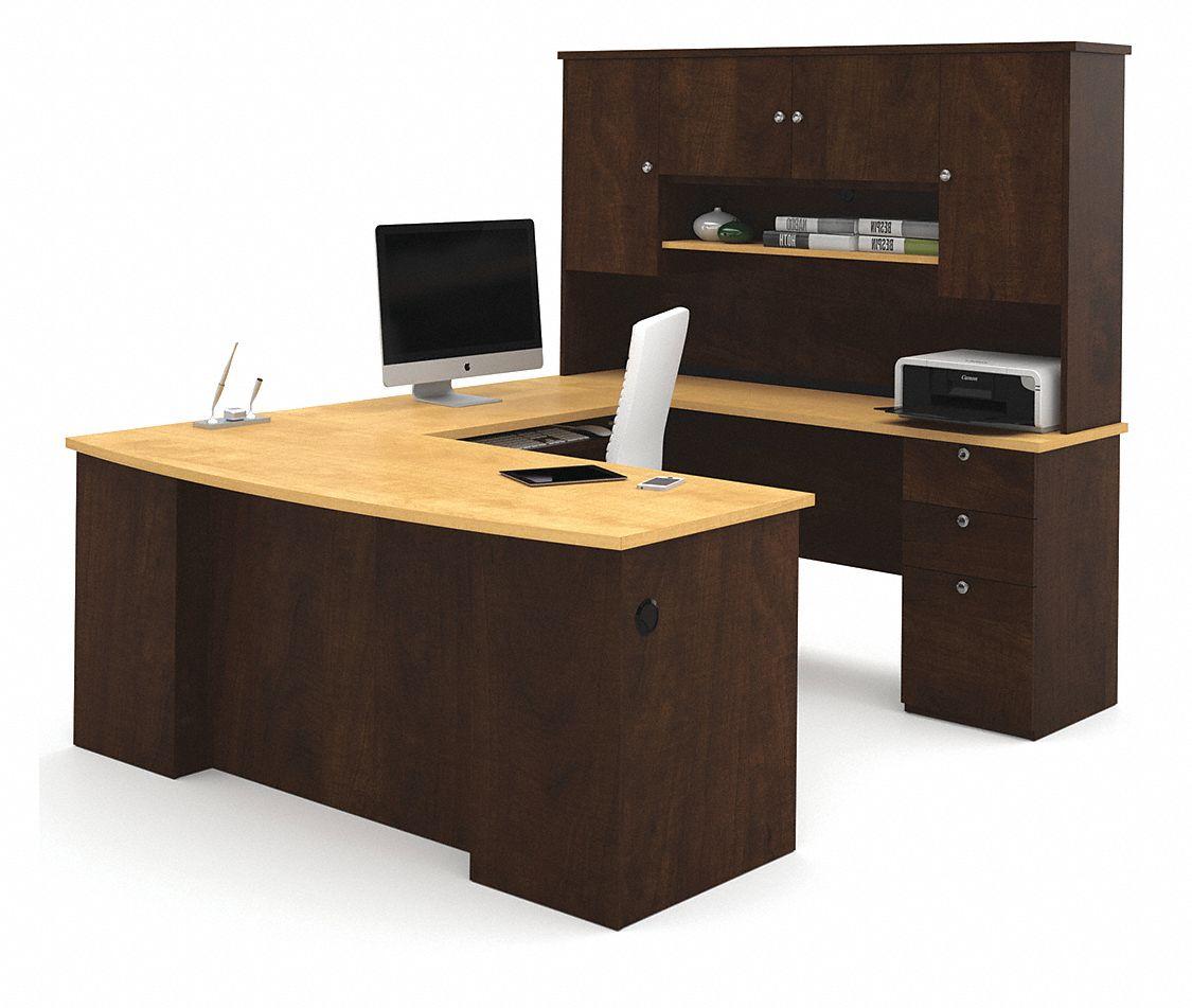 bestar manhattan u shape workstation overall height 70 45. Black Bedroom Furniture Sets. Home Design Ideas
