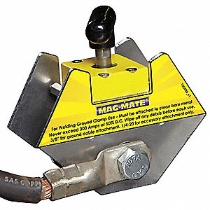 Magnetic Weld Angle w/Grd,3-2/5in,150lb
