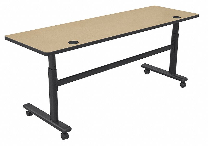 Balt Rectangle Mobile Training Table Fusion Maple 72 Quot W X