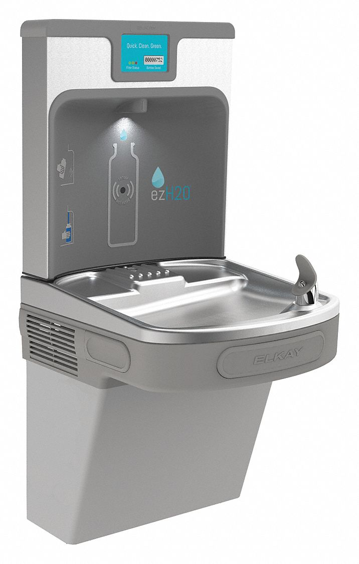 Elkay Refrigerated Wall Water Cooler With Bottle Filling
