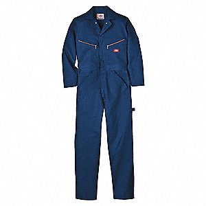 Long Sleeve Coveralls,Cotton,Navy,L