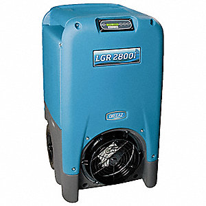 "Low-Grain Portable Dehumidifier, 115V, 8 Amps, Depth 23"", Width 24"", Height 40-1/2"""