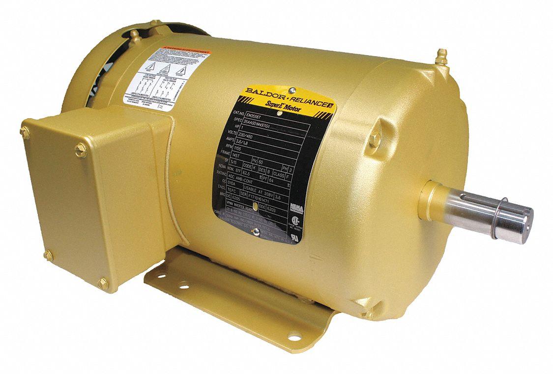 Baldor Electric Motor 3 Ph 1 Hp 1155 Rpm 145t Tefc
