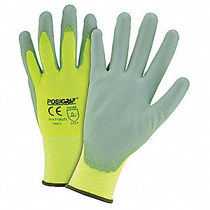 Touchscreen Utility Glove,S,Yellow,PK12