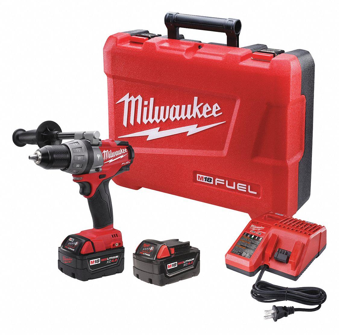 Milwaukee Cordless Hammer Drill Kit 18 0v 1 2 In 39ep12