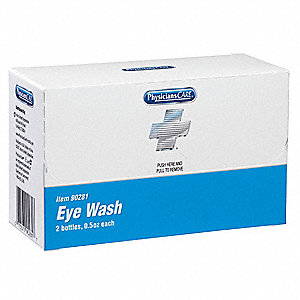 0.5 oz. Personal Eyewash Bottle, For Use With Mfr. No. 90210, Mfr. No. 90211
