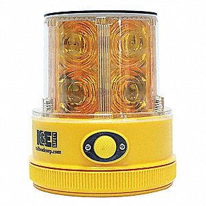 Rechargeable Safety Light,Amber,Solar