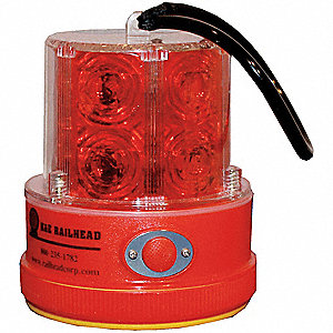 Revolving Light w/Strap,Red,12 LED