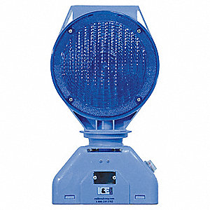 Solar Warning Light,Rechargeable,Blue