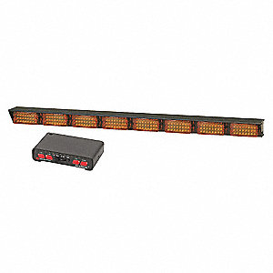Amber Directional Light, LED Lamp Type, Permanent Mounting, Number of Heads: 8