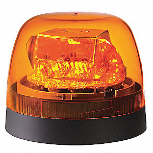 LED Rotating Beacon,Perm/Pipe Mt,Amber