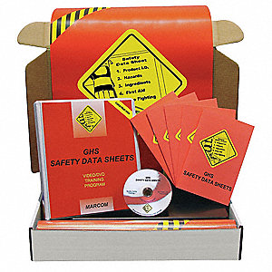 GHS SDS Const Kit,w/ Poster/Book,Spanish