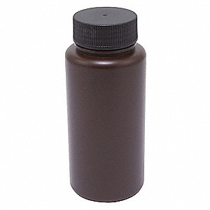 1,000mL/32 oz. Bottle, Wide Mouth, High Density Polyethylene, PK 12