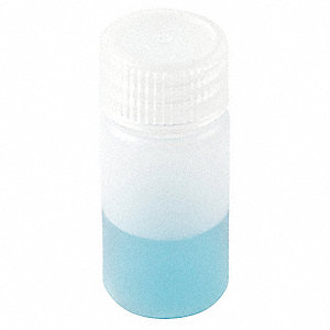 30mL/1 oz. Bottle, Wide Mouth, High Density Polyethylene, PK 12