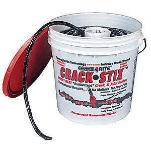 Rope-Like Patch Crack Filler Rope, 8 lb., 1/2 in. D, 125 ft. Size, Pail Container Type, Coverage: 1/