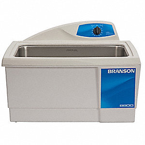 Ultrasonic Cleaner, M Type, Tank Capacity: 5.5 gal, Timer Range: 0-99 Min./Also Runs Continously