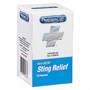 "Sting Relief, Application: Bite Relief, Size: 3"" x 1-7/8"", Packet Package Type"