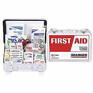 Vehicle First Aid Kit,Bulk,76Pcs,10 Ppl