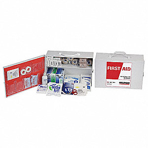 First Aid Kit,Bulk,White,487 Pcs,100 Ppl