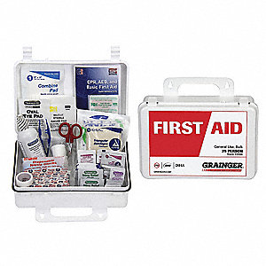 First Aid Kit,Bulk,White,185 Pcs,25 Ppl