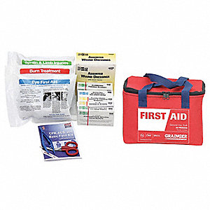 First Aid Kit,Bulk,Red,50 People