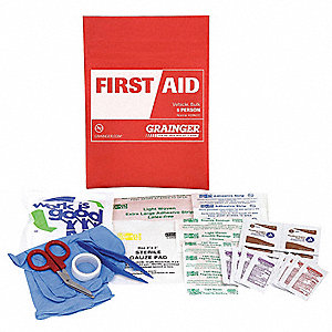First Aid Kit,Bulk,Red,117 Pcs,1 People