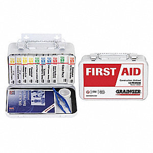 First Aid Kit,Unitized,White,10 People