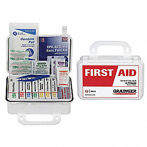 First Aid Kit,Bulk,White,57 Pcs,10 Ppl