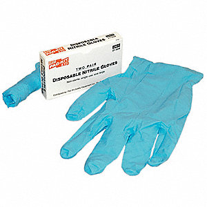 "Blues Disposable Gloves, Nitrile, Powder Free, L, 5.00 mil Palm Thickness, 9-1/2"" Length"