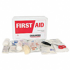 First Aid Kit,Bulk,White,17 Pcs,25 Ppl