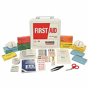 First Aid Kit,Unitized,White,24Pcs,24Ppl