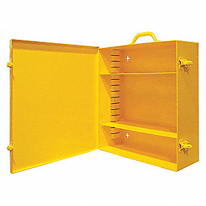 Durham Yellow Wall Cabinet Number Of Shelves 2 39p490