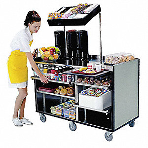 Mart Cart, Gray Sand, Stainless Steel W/laminate Exterior Finish