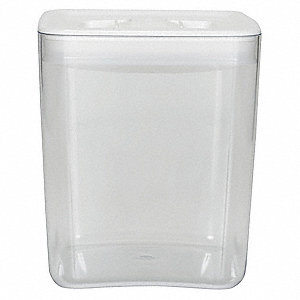 Sq Storage Canister,3qt,Clear/White,PK4