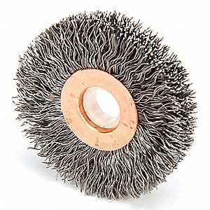 "Arbor Wire Wheel Brush, Crimped Wire, 2"" Brush Dia."
